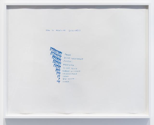 , 'How to Measure Quietness,' 2014, Carroll / Fletcher
