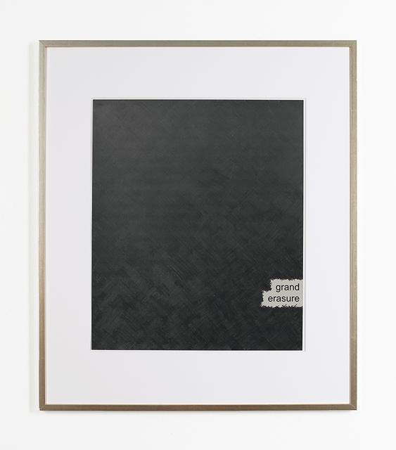 , 'Rauschenberg's Willem de Kooning - Grand Erasure,' 2008, Raum mit Licht