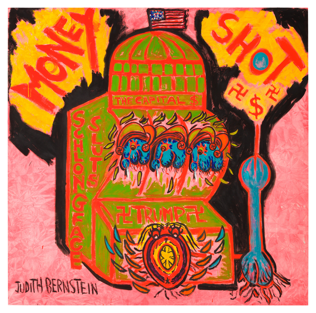Judith Bernstein, 'Money Shot - Green', 2016, Painting, Acrylic and oil on canvas, Kasmin