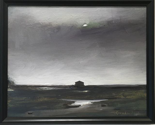 , 'Moon over Marsh Land,' 2016, J. Pepin Art Gallery