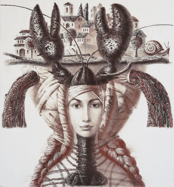 , 'Lady with Lobster,' 2014, REDSEA Gallery