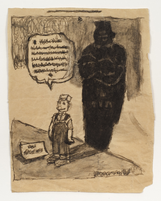 , 'Untitled (Cartoon with shadow),' n.d., Fleisher/Ollman