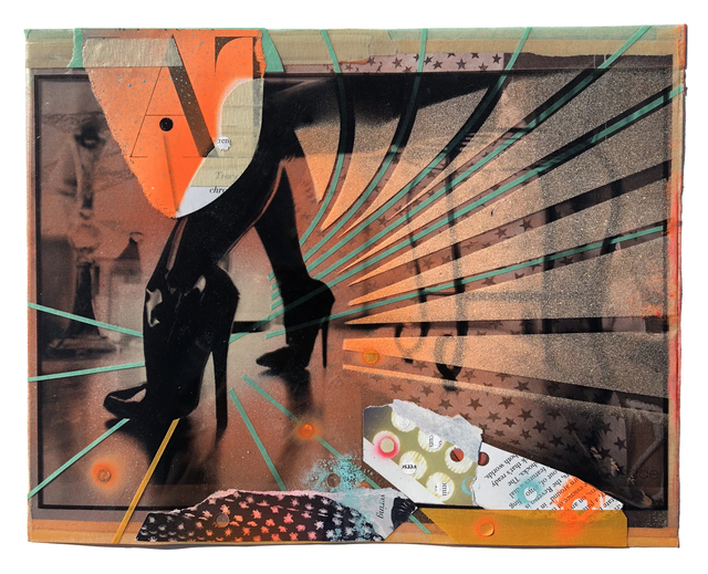 , 'Christine Adams (Collage Study),' 2018, Coagula Curatorial