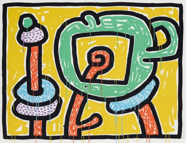 Keith Haring, 'Flowers III (Yellow)', 1990, michael lisi / contemporary art
