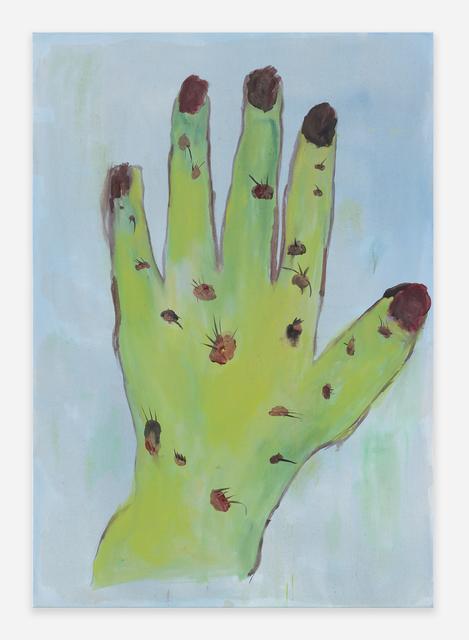 , 'FY (Grønn hånd med vorter),' 2018, Golsa