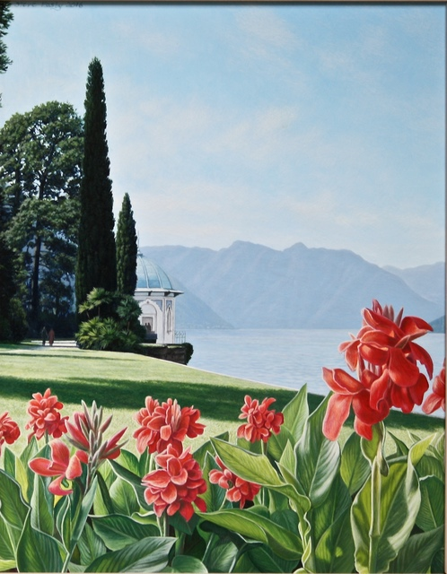 , 'Fiery Red Canna Lillies at The Villa Melzi,' 2016, Portal Painters