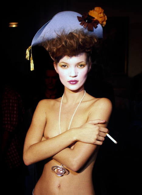, 'Kate Moss Standing Alone Backstage, Paris,' 1993, Holden Luntz Gallery