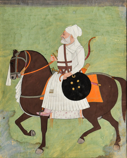 , 'A Painting of an Equestrian Nobleman,' c. 19th century, Kapoor Galleries / Graham Shay 1857