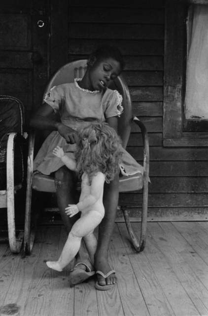 Bruce Davidson, 'Child on a Front Porch Playing with her Doll Baby, Shelby County, TN, 1962', 1962, Photography, Gelatin silver print, Etherton Gallery