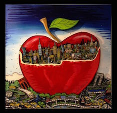 Charles Fazzino, 'Red Apple behind the City', 2016, art&emotion Fine Art Gallery