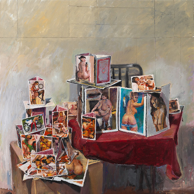 , 'Cardhous with Nude,' 2015, OLSEN GALLERY