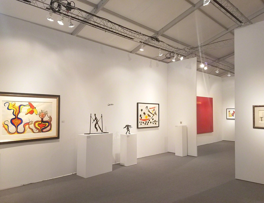 Art Miami Booth C211- From lef to right: Selection of Alexander Calder works, Esteban Vicente, James Brooks, and René Magritte