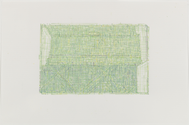 , 'Trace 4 : after Threshold, SouthWest - Two [ spectrum: green],' 2010, Rhona Hoffman Gallery