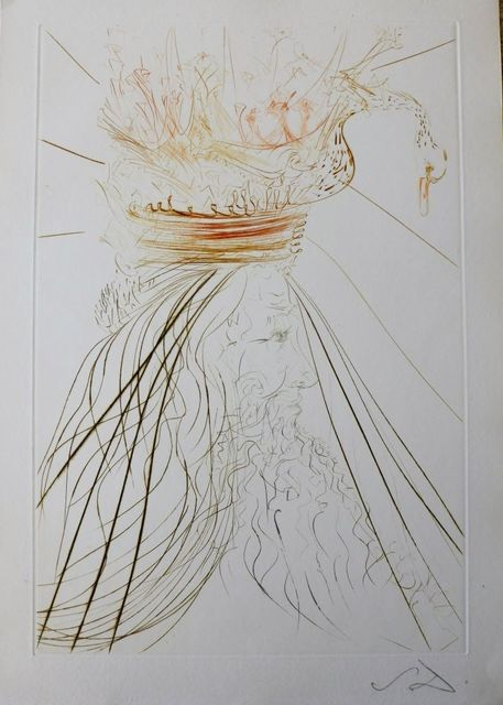 Salvador Dalí, 'Tristan and Iseult : King Marc', 1970, Print, Etching on paper, Samhart Gallery