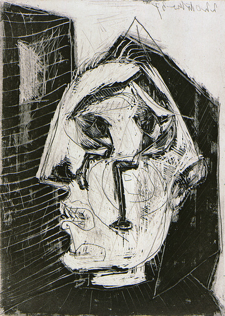 Pablo Picasso, 'Woman Crying Before a Wall', 1937, Print, Etching, aquatint, and scraper, Los Angeles County Museum of Art