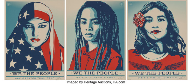 Shepard Fairey (OBEY), 'We the People (3 works)', 2017, Heritage Auctions