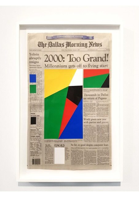 , 'Art For Modern Architecture - Dallas Morning News - The Millenium - January 1st, 2000,' 2011, Ronchini Gallery