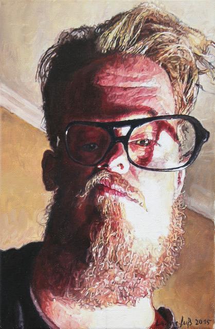 Ulrich Lamsfuss, 'Selfie', 2015, Painting, Oil on canvas, Hammelehle und Ahrens