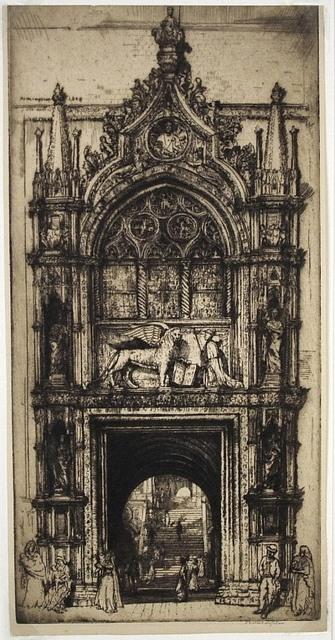 Donald Shaw MacLaughlan, 'Doorway of the Doges, Venice', 1909, Print, Etching, Harris Schrank Fine Prints