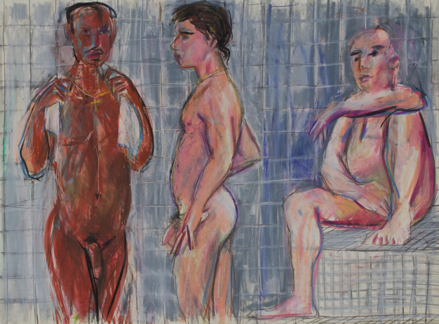 , 'Three Men in the Steam Room,' 1988, Galerie Thomas Fuchs