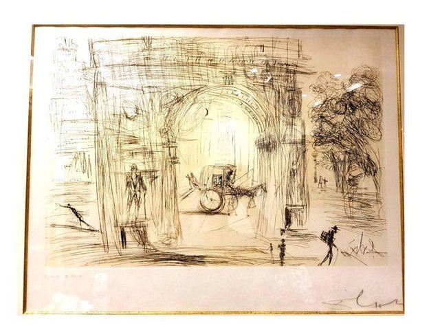 "Salvador Dalí, 'Original Etching ""Washington Gate"" by Salvador Dali', 1964, Galerie Philia"