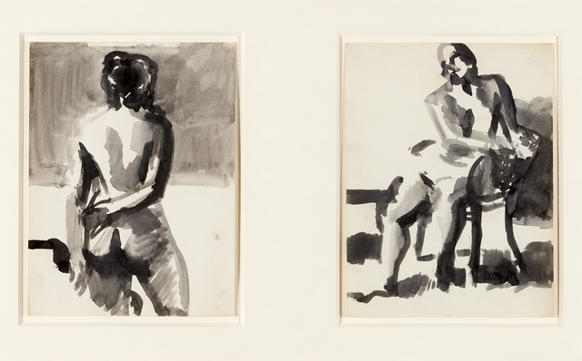 , 'Woman, Back View and Nude with Arms Resting on Chair (2),' , Brian Gross Fine Art