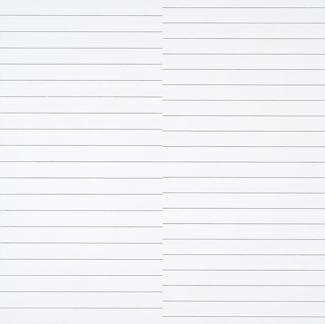 , '19 lignes parallèles et 21 lignes parallèles avec 1 interférence,' 1974, The Mayor Gallery