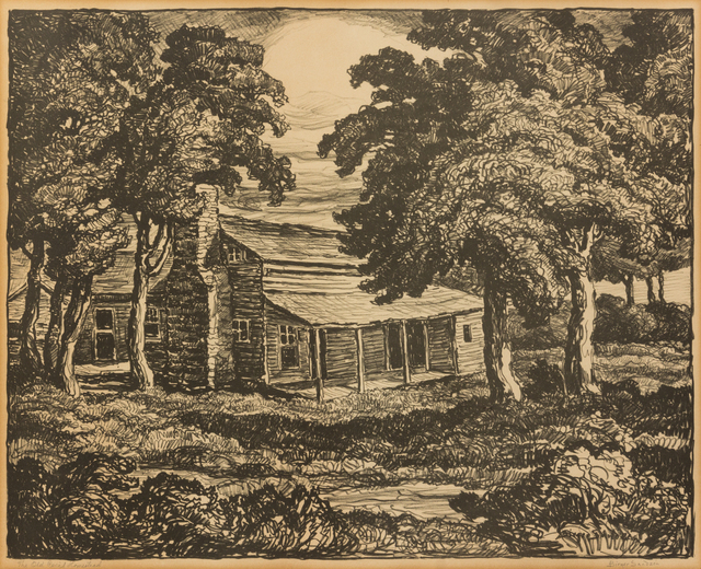 Birger Sandzén, 'The Old Cecil Homestead', 1936, Print, Lithograph, Hindman