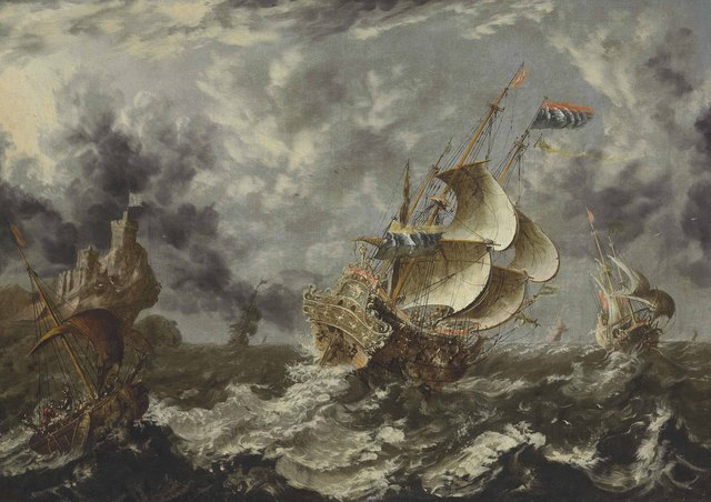 , 'Warships in choppy seas,' , Christie's Old Masters