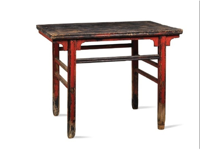 , 'A red and black lacquered softwood rectangular recessed-leg table,' China: Shanxi province, Ming dynasty, 17th century, Rasti Chinese Art