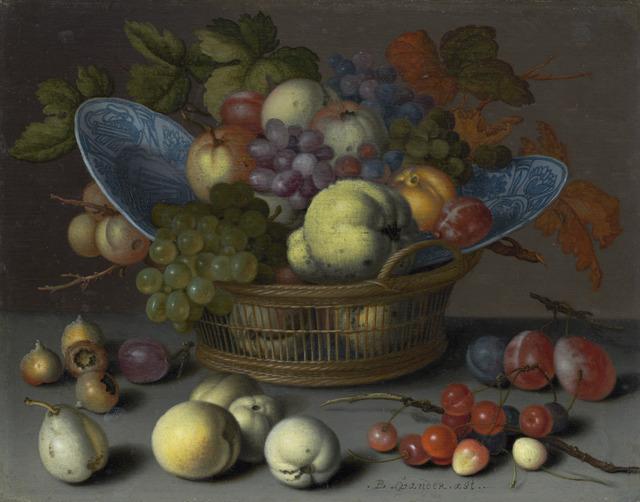 Balthasar van der Ast, 'Basket of Fruits', ca. 1622, National Gallery of Art, Washington, D.C.