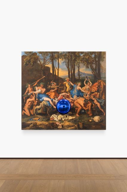 , 'Gazing Ball (Poussin The Triumph of Pan),' 2014-2016, Almine Rech