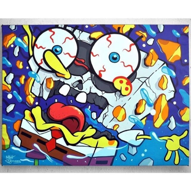, 'Spongebob Deconstructed,' 2016, Avenue des Arts Gallery