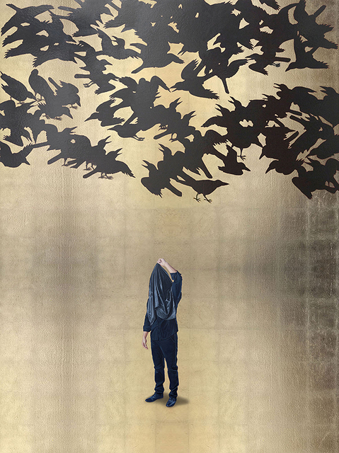 , 'Acto para repensar el deslumbramiento con parvada de sombras (Japón S. VII),' 2016, Galería Alfredo Ginocchio