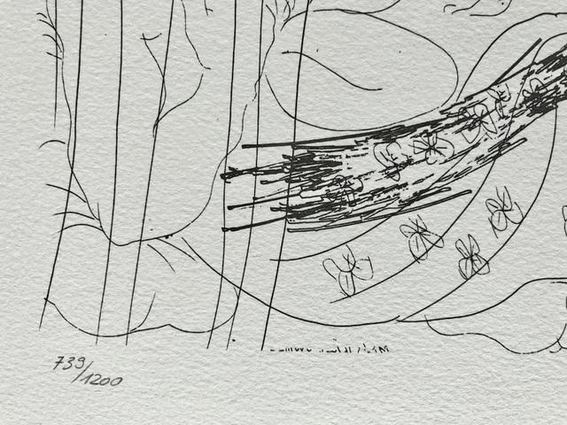 Pablo Picasso, 'Minotaure et femme derrière un rideau (Suite Vollard Planche XCI)', 1973, ByNewArt