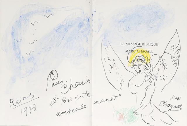 Marc Chagall, 'Ange nimbé sous le ciel bleu', 1973, Gloria Gallery