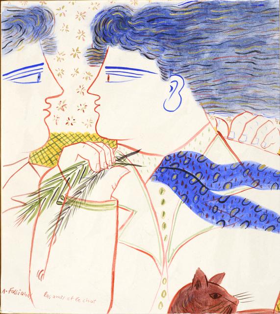 , ' Les amis et le chat ,' , Galerie Sophie Scheidecker