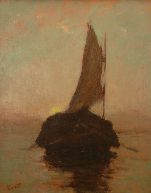 Frederick Kost, 'Hayboat at Sunset', ca. 1910, Private Collection, NY