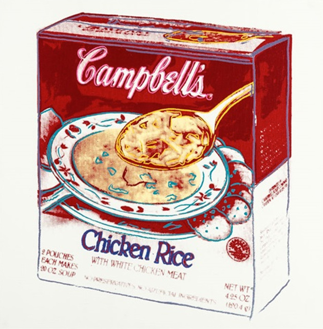 , 'Campbell's Soup Box: Chicken Rice by Andy Warhol ,' 1986, Revolver Gallery