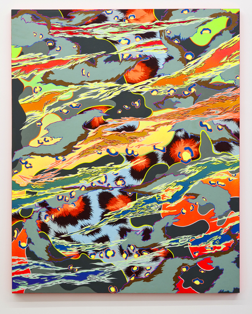 Mike Parillo, 'In Plain Sight II', 2014, Painting, Acrylic and glitter on panel, River
