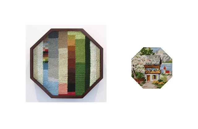 , 'cabaña de verano con árbol en flor y lago de fondo,' 2013, Wu Galeria