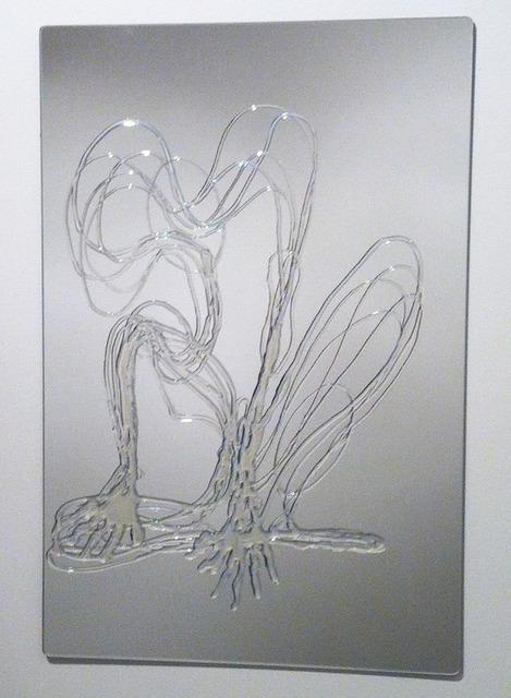 , 'distância recoberta_corte_n [d] sobre espelho,' 2014, Mul.ti.plo Espaço Arte