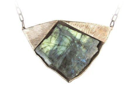 , 'Labradorite and Bronze Necklace,' , form & concept