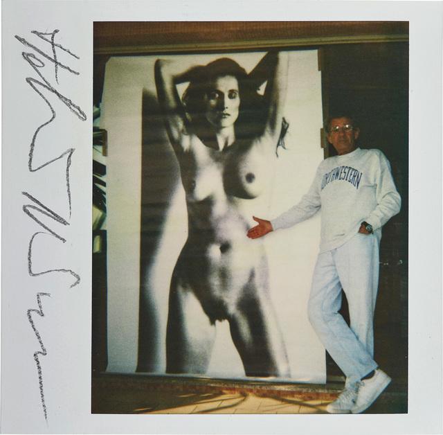 Helmut Newton, 'Self-Portrait with Big Nude VII, Nancy La Scala', 1990, Phillips