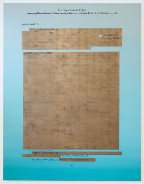 Jenny Holzer, 'Attorney Work Product', 2020, Painting, Champagne gold leaf and oil on linen, Hauser & Wirth