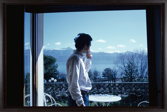 , 'David H. on the terrace, Hotel Beau Rivage Palace, Lausanne,' 1998, Fraenkel Gallery