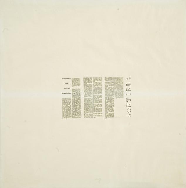 , 'Continua,' 1971, Frittelli Arte Contemporanea