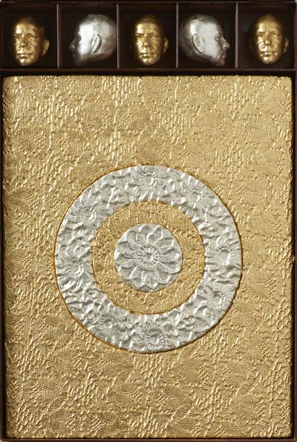 , 'Target Painting (Gold),' 2015, Kalman Maklary Fine Arts