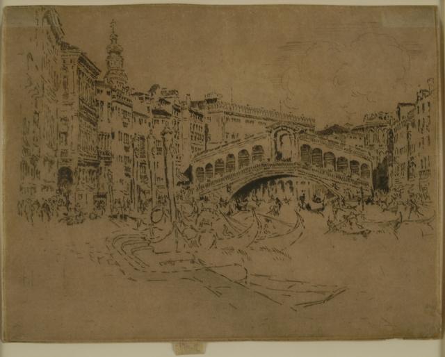 Joseph Pennell, 'The Rialto, Venice', 1883, Private Collection, NY