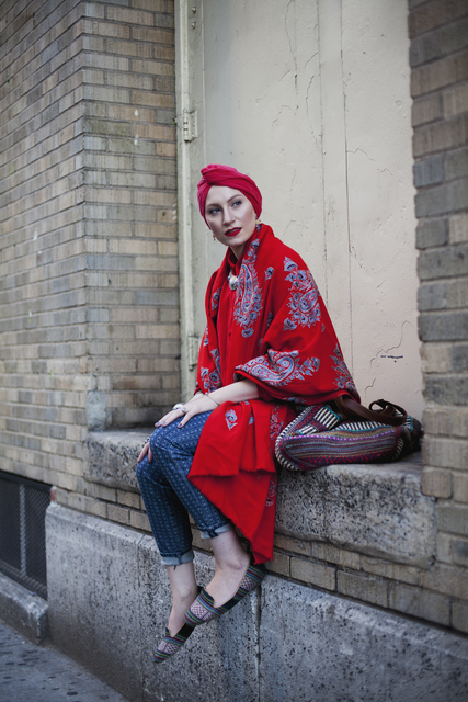 , 'New York Minute, Feda Eid, Boston visual artist, photographer, and style blogger, from Modest Street Fashion vol. 1,' 2014, de Young Museum